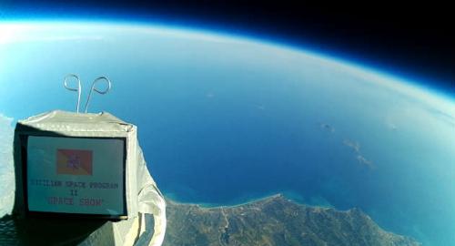 La storia della Sicilia lanciata nella stratosfera